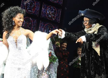 Actress Zodwa Selele (l) and Us Actress Whoopi Goldberg After the Premiere of the Musical 'Sister Act' in Hamburg German 02 December 2010 the Musical is Based on the 1992 Movie Germany Hamburg