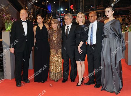 (l-r) German Director and Jury President Werner Herzog Italian Director Francesca Comencini German Actress Cornelia Froboess Spanish Producer Jose Maria Morales Us Actress Renee Zellweger Somali Writer Nuruddin Farah and Chinese Actress Yu Nan Arrive For the Closing Ceremony of the 60th Berlinale International Film Festival in Berlin Germany 20 February 2010 Up to 400 Films Are Shown Every Year As Part of the Berlinale's Public Programme the Berlinale is Divided Into Different Sections Each with Its Own Unique Profile Germany Berlin