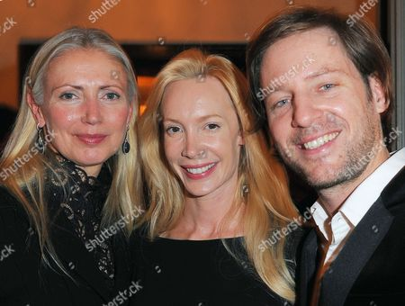 (l-r) Editor in Chief of Vogue Germany Christiane Arp Austrian Director Feo Aladag and German Director Florian Gallenberger Attend the Vogue Party Held at Muenzsalon During the 60th Berlin International Film Festival in Berlin Germany 18 February 2010 the Party was Organized in Honor of German Actress Hanna Schygulla who Received the Honorary Golden Bear Award For Lifetime Achievement the Same Day Germany Berlin