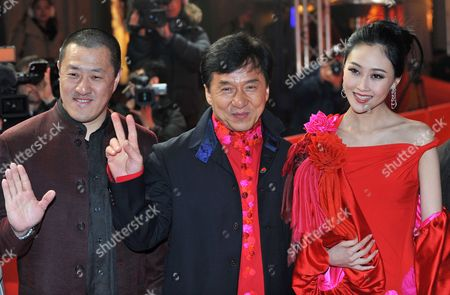 Director Ding Sheng (l-r) and Actors Jackie Chan and Peng Lin Arrive For the Premiere of Their Film 'Little Big Soldier' During the 60th Berlin International Film Festival in Berlin Germany 17 February 2010 the Film is Presented in the Berlinale Special Section of the Festival Running Until 21 February Germany Berlin