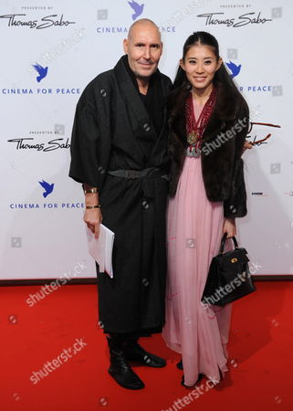 French Photographer Michel Comte and His Wife Ayako Arrive For the Cinema For Peace Charity Gala in Berlin Germany 15 February 2010 the 'Cinema For Peace' Gala is Part of the 60th Berlin International Film Festival Germany Berlin