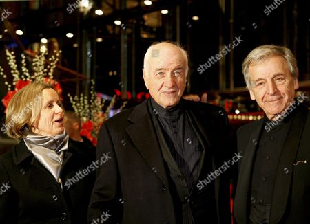 German Actor Armin Mueller-stahl (c) His Wife Gabriele Scholz and Greek Director Constantin Costa-gavras Arrive For the Golden Bear Award Ceremony During the 61st Berlin International Film Festival in Berlin Germany 18 February 2011 Ueller-stahl Will Be Awarded an Honorary Golden Bear During the 61st Berlinale Running From 10 to 20 February Germany Berlin