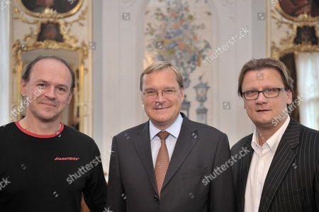 (l-r)áfilm Producer Robert Kulzer Bamberg's Lord Mayor Andreas Starke and Managing Director of Contantin Film's Marketing Department Torsten Koch Attend a Press Conference on the Film 'The Three Musketeers'áin Bamberg Germany 30 August 2010 This 3d Remake by British Director Paul W S Anderson is One of the Most Expensive Ever Produced in Hollywood the Theatrical Release is Scheduled For the Summer of 2011 Germany Bamberg