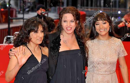 Actresses Magaly Solier (r) Pilar Guerrero (l) and Peruvian Director Claudia Llosa (c) Arrive For the Premiere of Their Film 'The Milk of Sorrow' (la Teta Asustada) at the 59th Berlin International Film Festival in Berlin Germany 12 February 2009 the Film is Among 18 Films Competing For the Silver and Golden Bear Awards at the 59th Berlinale Germany Berlin