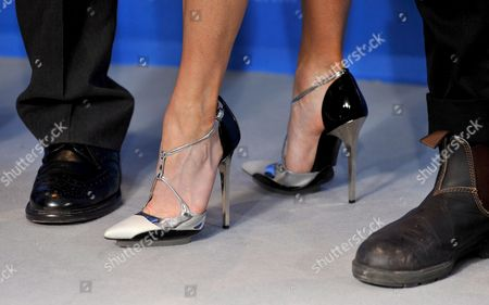 The Feet of (l-r) British Director Richard Loncraine Us Actress Renee Zellweger and Canadian Actor Mark Rendall Pictured During a Photo Call on Their Film 'My One and Only' at the 59th Berlin International Film Festival in Berlin Germany 12 February 2009 the Film Runs in Competition; a Total of 18 Films Compete For the Silver and Golden Bears of the 59th Berlinale Germany Berlin