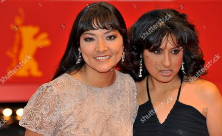 Actresses Magaly Solier (l) and Pilar Guerrero (r) Arrive For the Premiere of Their Film 'The Milk of Sorrow' (teta Asustada La) at the 59th Berlin International Film Festival in Berlin Germany 12 February 2009 the Film is Among 18 Films Competing For the Silver and Golden Bear Awards at the 59th Berlinale Germany Berlin