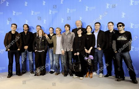 German Directors Tom Tykwer (l-r) Hans Weingaertner Martin Gressmann Sylke Enders Isabelle Stever Dani Levy Hans Steinbichler Wolfgang Becker Angela Schanelec Nicolette Krebitz Romuald Karmakar Christoph Hochhaeusler and Fatih Akin Pose During the Photocall of Their Film 'Germany '09 - 13 Short Films on the State of the Union' at the 59th Berlin International Film Festival in Berlin Germany 13 February 2009 the Film Runs out of Competition; a Total of 18 Films Compete For the Silver and Golden Bears of the 59th Berlinale Germany Berlin