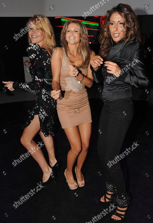 A Picture Made Available 15 October 2010 Shows (l-r) German Actress Wolke Hegenbarth and the Singers of the German Band Monrose Mandy Grace Capristo and Senna Guemmour As They Dance at the Tribute to Bambi Gala at the Station-berlin Berlin Germany 14 October 2010 the Profits From the Event Will Go to the Tribute to Bambi Foundation That Will Help Children in Need in Germany Germany Berlin