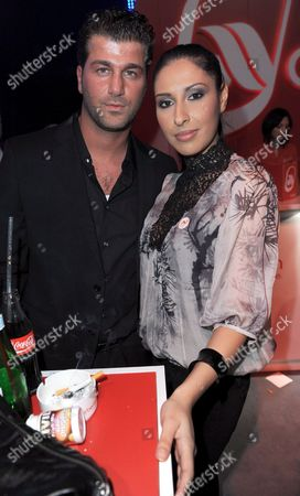 German Singer-songwriter and a Member of the Pop Group Monrose Senna Guemmour and Her New Boyfriend Ashraf Pose For a Photo During the Aftershow Party of the 'Tribute to Bambi' Gala in the Europa Park in Rust Southwest Germany 26 November 2008 on the Eve of the Bambi Television Awards Celebrities Gathered to Raise Money For Social Projects Germany Rust