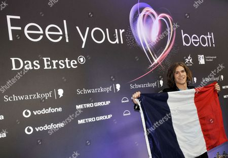 Amaury Vassili Representing France Poses During the Big Five Press Conference at Eurovision Song Contest in Duesseldorf Germany 13 May 2011 the Big Five Are Countries That Automatically Qualify For the Eurovision Finals the Final of the 56th Eurovision Song Contest Takes Place on 14 May 2011 Germany Duesseldorf