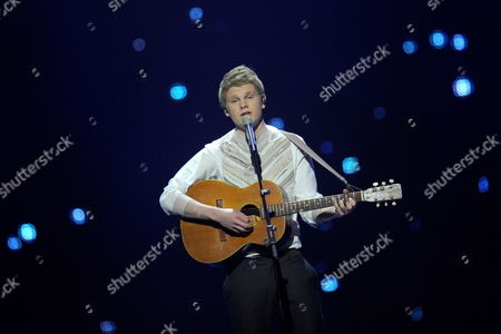Paradise Oskar Representing Finland Performs During the Final of the Eurovision Song Contest in Duesseldorf Germany 14 May 2011 25 Participants Are Competing For the Trophy of the 56th Eurovision Song Contest Germany Duesseldorf