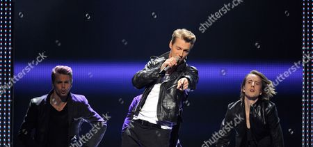 Alexej Vorobjov (c) Representing Russia Performs During the Final of the Eurovision Song Contest in Duesseldorf Germany 14 May 2011 25 Participants Are Competing For the Trophy of the 56th Eurovision Song Contest Germany Duesseldorf