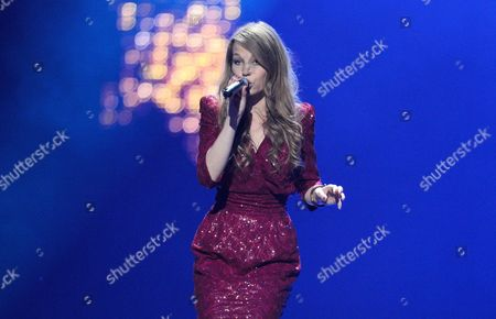 Anna Rossinelli Representing Switzerland Performs During a Dress Rehearsal For the Grand Final of the Eurovision Song Contest in Duesseldorf Germany 13 May 2011 the Grand Final of the 56th Eurovision Song Contest Takes Place on 14 May Germany Duesseldorf