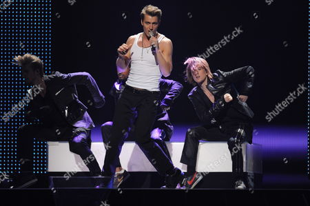 Alexey Vorobyov (c) Representing Russia Performs During a Dress Rehearsal For the Final of the Eurovision Song Contest in Duesseldorf Germany 13 May 2011 the Finale of the 56th Eurovision Song Contest Takes Place on 14 May 2011 Germany Duesseldorf