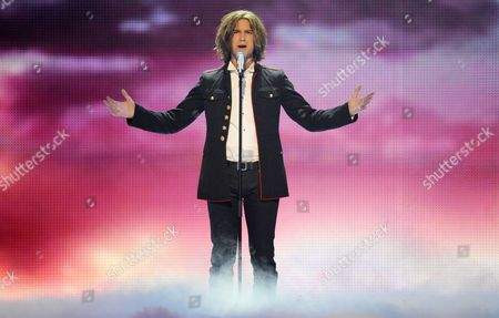 Amaury Vassili Representing France Performs During the Final of the Eurovision Song Contest in Duesseldorf Germany 14 May 2011 25 Participants Are Competing For the Trophy of the 56th Eurovision Song Contest Germany Duesseldorf