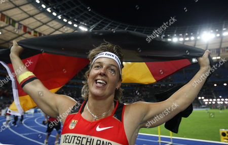 Steffi Nerius of Germany Celebrates After Winning the the Javelin Final at the 12th Iaaf World Championships in Athletics Berlin Germany 18 August 2009 Epa/kay Nietfeld Germany Berlin