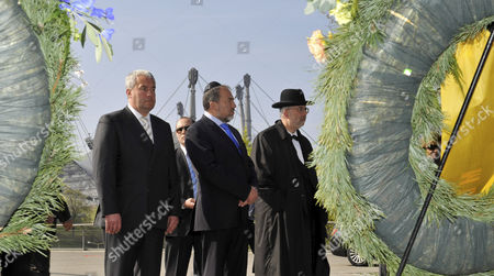 (l-r): the Bavarian Minister of Education and the Arts Ludwig Spaenle Israel's Foreign Minister Avigdor Lieberman and an Unidentified Rabbi Remember the Victims of the Attack of the Summer Olympic Games 1972 in Front of the Memorial in the Olympic Park in Munich Germany 08 April 2011 70 Years After the Holocaust Israel Opened Its First Consulate General in Munich Epa/frank Leonhardt Germany Munich