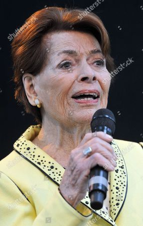 Singer Lys Assia From Switzerland Performs on Stage at the 'Airport Grand Prix' at the Airport in Duesseldorf Germany 01 May 2011 Lys Assia Won the First Eurovision Song Contest in Lugano in 1956 with the Song 'Refrain' Germany Duesseldorf