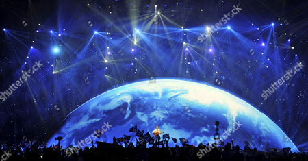 Paradise Oskar (c) Representing Finland Performs During the First Semi-final of the Eurovision Song Contest in Duesseldorf Germany 10 May 2011 the Final of the 56th Eurovision Song Contest Takes Place on 14 May 2011 Germany Duesseldorf