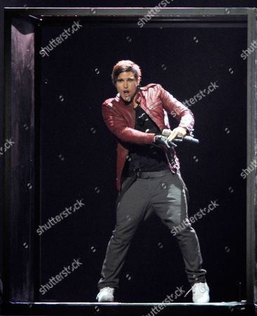 Eric Saade Representing Sweden Performs During the First Dress Rehearsal For the Second Semi-final of the Eurovision Song Contest in Duesseldorf Germany 11 May 2011 the Final of the 56th Eurovision Song Contest Takes Place on 14 May 2011 Germany Dueseldorf