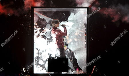 Eric Saade Representing Sweden Performs During the Second Semi-final of the Eurovision Song Contest in Duesseldorf Germany 12 May 2011 the Final of the 56th Eurovision Song Contest Takes Place on 14 May 2011 Germany Duesseldorf