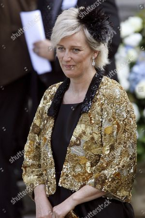 Princess Astrid of Belgium Arrives at the Wedding of Hubertus Michael Hereditary Prince of Saxony-coburg and Gotha and Kelly Jeanne Rondestvedt in Coburg Germany 23 May 2009 Some 400 Guests Many of Which Celebrities and European Aristocrats Attended the Wedding Germany Coburg