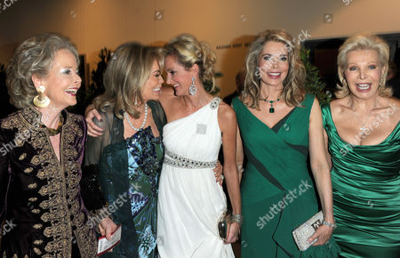 (l-r) Isa Countess Von Hardenberg Renate Thyssen-henne Katja Kessler Begum Inaara Aga Khan and Ute Ohoven Attend the 17th Annual Opera Charity Gala For the German Aids Foundation at the German Opera House in Berlin Germany 06 November 2010 Germany Berlin