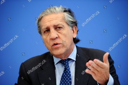 Spain's European Minister Diego Lopez Garrido at a Press Conference in Berlin Germany 09 June 2011 Reports State That Garrido Spoke About Possibilities of a Common Approach to the Ehec Epidemic the Eu Has Increased on 08 June 2011 to 210m Euros Its Offer of Compensation to Farmers who Have Lost Income Due to an Outbreak of E Coli Germany Berlin