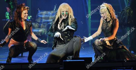 Actors Kerry Winter (l-r) As Columbia Matt Mckenna As Riff Raff and Djalenga Scott As Magenta Perform on Stage During a Dress Rehearsal For the 'Rocky Horror Show' in Cologne Germany 22 June 2011 the Musical Will Premiere on 22 June 2011 and Stays in Cologne Until 10 July 2011 Germany Cologne