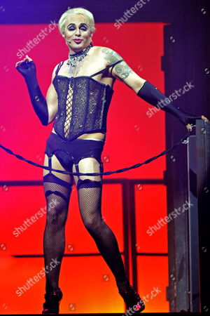 Actor Rob Fowler As Frank'n'furter Performs on Stage During a Dress Rehearsal For the 'Rocky Horror Show' in Cologne Germany 22 June 2011 the Musical Will Premiere on 22 June 2011 and Stays in Cologne Until 10 July 2011 Germany Cologne