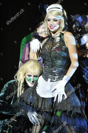 (l-r) Actors Matt Mckenna As Riff Raff and Djalenga Scott As Magenta Perform on Stage During a Dress Rehearsal For the 'Rocky Horror Show' in Cologne Germany 22 June 2011 the Musical Will Premiere on 22 June 2011 and Stays in Cologne Until 10 July 2011 Germany Cologne