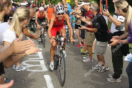 British Triathlete Chrissie Wellington Rides Her Bike During the Cycling Etappe of the 10th Ironman Challenge in Hipoltstein Germany 10 July 2011 For the Ironman the Participants Have to Swim 3 8 Km Cycle 180 Km and Run 42 195 Km Germany Hilpoltstein