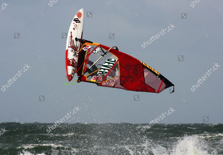 Usa's Kai Lenny Rides the Waves at the 26th Windsurfing World Cup Off Westerland Germany 01 October 2009 the World Cup is Held on Sylt Island Until 04 October Germany Westerland