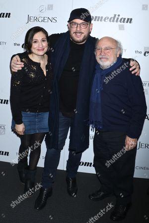 Lucy DeVito, Courtney Solomon and Danny DeVito