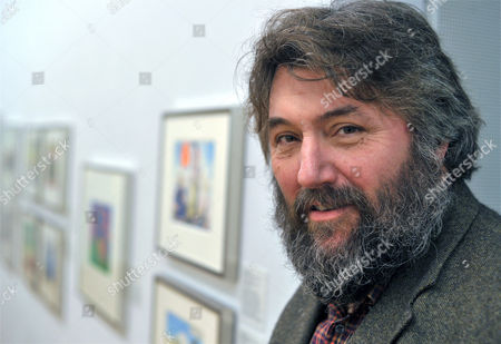 British Cartoonist Steve Bell Poses in His Exhibition at the German Museum For Caricature and Draughtsmanship in Hanover Germany 11 February 2011 His Exhibbition is on Display Until 15 May Germany Hanover