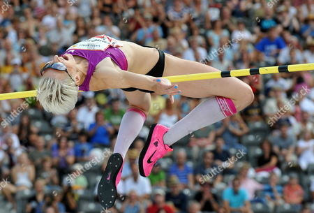 German Ariane Friedrich in Action During Pole Vault at the International Stadium Festival Istaf in the Olympic Stadium in Berlin Germany 22 August 2010 She Wins the Competition Germany Berlin