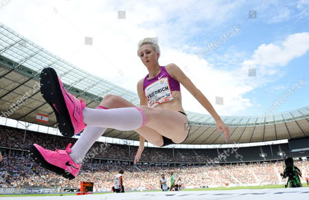 German Ariane Friedrich Sits Down on the Mat After Her Victory of the High Jump Competition at the International Stadium Festival Istaf in Berlin Germany 22 August 2010 Germany Berlin