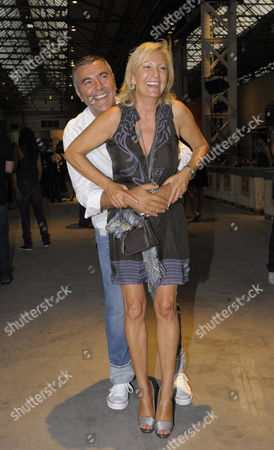 A Picture Dated 02 July 2009 Shows German Television Host Sabine Christiansen and Her Husband Norbert Medus Arriving to the Show of the Label 'Boss Orange' During the Mercedes-benz Fashion Week in Berlin Germany the Mercedes-benz Fashion Week Runs Through 04 July 2009 Germany Berlin