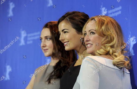 (l-r) Us Actresses Anna Anissimova Camilla Belle and Virginia Madsen Pose During Photo Call For the Film 'Father of Invention' at the 60th Berlinale International Film Festival in Berlin Germany 15 February 2010 the Festival Runs Until 21 Febuary 2010 Germany Berlin