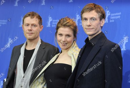 Austrian Actors Andreas Lust (l-r) Franziska Weisz and German Director Benjamin Heisenberg Attend the Photocall For Their Movie 'The Robber' During the 60th Berlin International Film Festival in Berlin Germany 15 February 2010 the Movie is Presented in the Competition at the Festival Running Until 21 February Germany Berlin