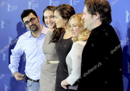 (l-r) Producer Kia Jam Us Actresses Anna Anissimova Camilla Belle Virginia Madsen and Director Trent Cooper Pose During Photo Call For the Film 'Father of Invention' at the 60th Berlinale International Film Festival in Berlin Germany 15 February 2010 the Festival Runs Until 21 Febuary 2010 Germany Berlin