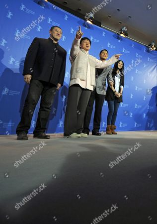 Director Ding Sheng (l-r) and Actors Jackie Chan Steve Yoo and Peng Lin Attend the Photocall For Their Film 'Little Big Soldier' During the 60th Berlin International Film Festival in Berlin Germany 16 February 2010 the Film is Presented in the Berlinale Special Section of the Festival Running Until 21 February Germany Berlin