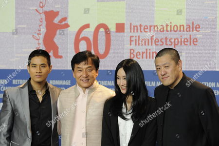 Director Ding Sheng (r) and Actors Jackie Chan (2-l) Steve Yoo (l) and Peng Lin Attend the Press Conference For Their Film 'Little Big Soldier' During the 60th Berlin International Film Festival in Berlin Germany 16 February 2010 the Film is Presented in the Berlinale Special Section of the Festival Running Until 21 February Germany Berlin