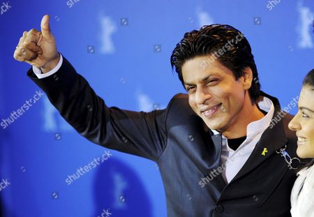 Indian Actors Shah Rukh Khan (r) and Kajol Devgan Attend the Photo Call For the Film 'My Name is Khan' During the 60th Berlinale International Film Festival in Berlin Germany 12 February 2010 the Festival Runs Until 21 Febuary 2010 Germany Berlin