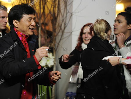 Chinese Actor Jackie Chan (l) Attends the Premiere of His Film 'Little Big Soldier' During the 60th Berlin International Film Festival in Berlin Germany 17 February 2010 the Film by Director Ding Sheng is Presented in the Berlinale Special Section of the Festival Running Until 21 February Germany Berlin