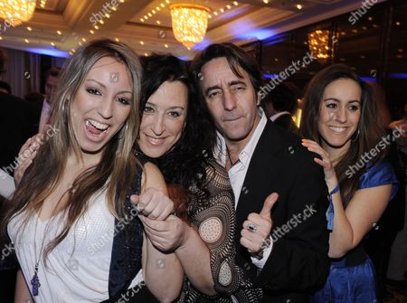 German Actor Dieter Landuris (2-r) His Wife Natascha (2-l) and Daughters Isabella (l) and Fanny (r) Poses at the Party 'Movie Meets Media' During the 60th Berlinale International Film Festival in Berlin Germany 12 February 2010 the Festival Runs Until 21 February 2010 Germany Berlin
