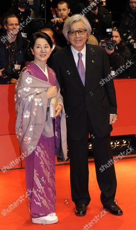 Stock Picture of Japanese Director Yoji Yamada and Japanese Actress Sayuri Yoshinaga Arrive For the Closing Ceremony of the 60th Berlinale International Film Festival in Berlin Germany 20 February 2010 Up to 400 Films Are Shown Every Year As Part of the Berlinale's Public Programme the Berlinale is Divided Into Different Sections Each with Its Own Unique Profile Germany Berlin