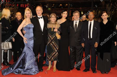 Stock Photo of Jury Members Us Actress Renee Zellweger (3-l-r) German Director Werner Herzog German Actress Cornelia Froboess Chinese Actress Yu Nan Spanish Author Jose Maria Morales Somali Writer Nuruddin Farah and Italian Director Francesca Comencini Arrive For the Premiere of the Opening Film 'Tuan Yuan' ('apart Together') That Runs in Competition of the 60th Berlin International Film Festival in Berlin Germany 11 February 2010 the Festival Runs Until 21 Febuary 2010 Germany Berlin