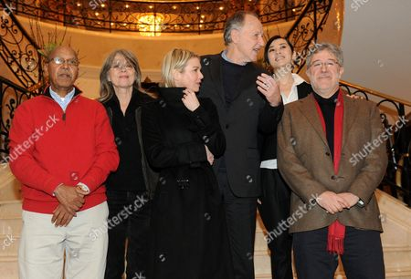 The Jurors of the 60th Berlinale International Film Festival Somali Writer Nuruddin Farah (l-r) German Actress Cornelia Froboess Us Actress Renee Zellweger German Director and Jury President Werner Herzog Chinese Actress Yu Nan and Spanish Producer Jose Maria Morales Attend a Photocall Prior to the Start of the Festival in Berlin Germany 10 February 2010 Germany Berlin