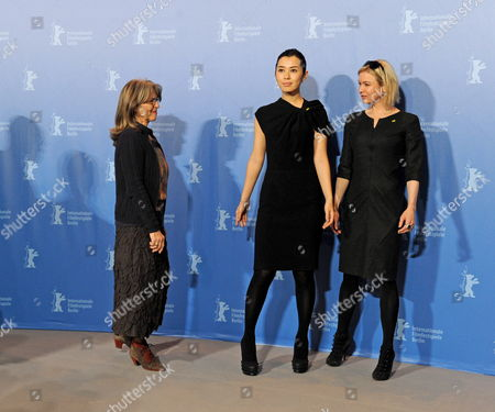 Stock Photo of German Actress Cornelia Froboess (l-r) Chinese Actress Yu Nan and Us Actress Renee Zellweger Attend a Photocall of the Berlinale Jury on the Occasion of the 60th Berlinale International Film Festival in Berlin Germany 11 February 2010 the Festival Runs From 11 to 21 February Germany Berlin